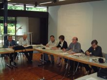 ICIAM Officers seated at the Board meeting, Zurich 2004
