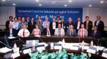 ICIAM Council in meeting room, Shanghai 2006 - with names.